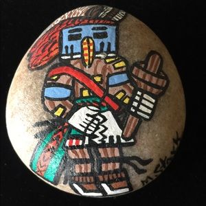 Native American painted rock by M Stark